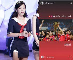 """Góc hài hước: So Yeon (T-Ara) gọi HLV Park Hang Seo là """"chị"""" khi chúc mừng chiến thắng của U23 Việt Nam"""