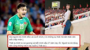 """Bạn gái Đặng Văn Lâm: """"Chấp nhận khi mọi người nói mình xấu và quê mùa"""""""