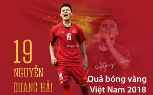 Quang Hải giành quả bóng vàng ở tuổi 21, Công Phượng là cầu thủ được yêu thích nhất