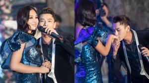 Isaac bất ngờ hôn tay Hoa hậu Tiểu Vy tại sự kiện