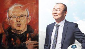 Bức tranh nổi tiếng về thầy Park Hang Seo sẽ được đấu giá từ thiện