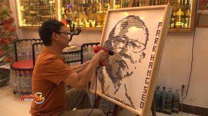 Độc đáo chân dung HLV Park Hang Seo được tạo thành từ 3.000 cây đinh vít