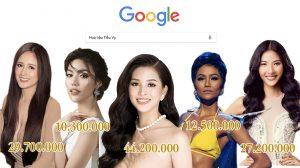 Bất ngờ với kết quả search trên google, Hoa hậu Tiểu Vy vượt mặt hàng loạt đàn chị cán mốc con số kỉ lục