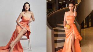 Ngày càng xinh đẹp nhưng Bích Phương vẫn thua Hoa hậu Trái đất Phương Khánh khi đụng hàng cùng 1 chiếc đầm