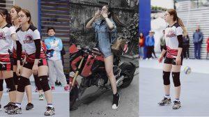 Bạn gái Quang Hải lộ chân ngắn, đùi to, chiều cao thì khiêm tốn khác xa hình ảnh biniki gợi cảm