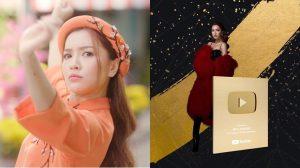 Mở hàng năm mới: Bích Phương là nữ ca sĩ đầu tiên của Việt Nam đạt nút vàng YouTube