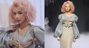 Phí Phương Anh mở màn đầy ấn tượng trong show diễn của Lý Quí Khánh với mái tóc hồng 'chất chơi'