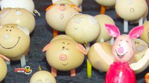 Ngộ nghĩnh những chú heo được làm từ vỏ trứng chào xuân Kỷ Hợi 2019
