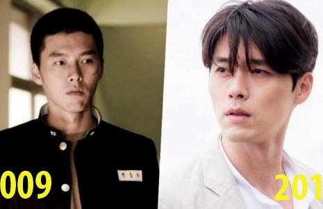"""#10YearChallenge đã lan đến Hàn Quốc, rớt """"trúng đầu"""" loạt sao lớn Hyun Bin, Park Shin Hye…"""