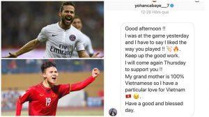 Tin được không, cựu danh thủ Pháp nhắn tin bày tỏ sự yêu thích cách chơi bóng của Quang Hải kìa