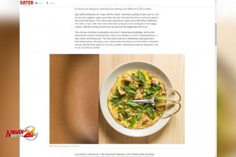 Trang ẩm thực Mỹ giới thiệu món bánh tráng nướng độc đáo của Việt Nam