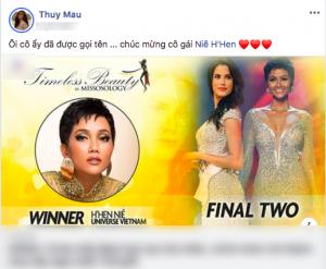 Sao Việt bấn loạn trước thành tích Hoa hậu đẹp nhất hành tinh của H'hen Niê
