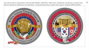 Đồng xu kỷ niệm Hội nghị Thượng đỉnh Mỹ – Triều Tiên lần 2