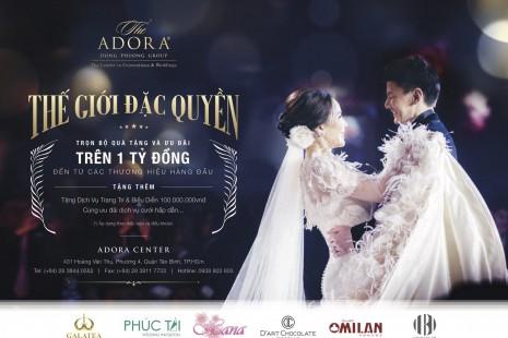 """Trải nghiệm tiệc cưới trong mơ với bộ ưu đãi """"đặc quyền"""" tại trung tâm hội nghị yến tiệc Adora Center"""