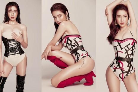 'Gái hai con' Elly Trần mặc nội y nóng bỏng khoe vòng eo 56 cm