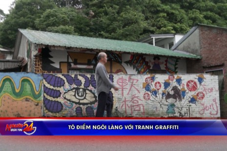 Tô điểm ngôi làng với tranh graffiti