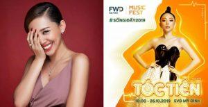 """Ngoài Sơn Tùng M-TP, Tuấn Hưng, Tóc Tiên… là những cái tên """"đình đám"""" tiếp theo sẽ đổ bộ FWD Music Fest 2019"""