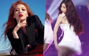 HyunA lại khiến fan đỏ mặt khi kéo váy khoe vòng 3 ngay trên sân khấu