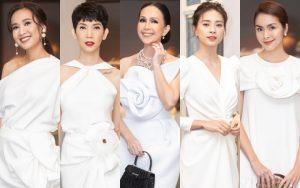 """Cùng diện tông trắng, dàn mỹ nhân Việt đua sắc cực """"gắt"""" mừng 25 năm ngày cưới của Diễm My"""