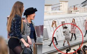 """Trò lố hi hữu tại show Chanel: khách mời """"hám fame"""" xông lên sàn diễn nhưng chưa gì đã bị Gigi Hadid """"xử đẹp"""""""