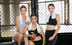 Dàn người đẹp hăng say tập luyện cho cuộc thi quốc tế