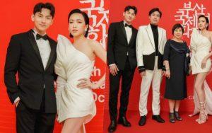 Thảm đỏ LHP Busan tại Hàn Quốc: Isaac lịch lãm, Diệu Nhi diện váy xẻ cao e ấp khoe vẻ gợi cảm!