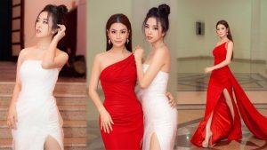 Diễm Trang lâu ngày hội ngộ cùng Thúy An, hẹn nhau diện váy xẻ cao khoe chân dài thẳng tắp