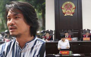 Đạo diễn Hoàng Nhật Nam nghẹn khóc trước cổng toà xin có mặt