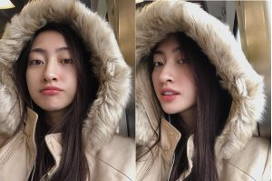 Trời Tây mưa gió ảm đạm, Lương Thùy Linh vẫn khoe sắc đẳng cấp Hoa hậu bất chấp mặt mộc
