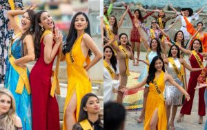 Thông minh như Á hậu Kiều Loan, luôn chọn vị trí nổi bật giữa dàn thí sinh Miss Grand International
