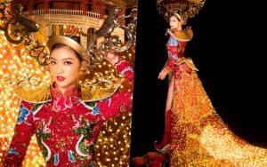 """Kiều Loan liệu có """"chặt đẹp"""" dàn thí sinh Miss Grand International với bộ quốc phục này?"""