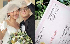 Văn Mai Hương chính thức lên tiếng về việc khoe giấy đăng kí kết hôn