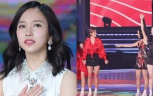 """TWICE đập tan tin đồn Mina rời nhóm bằng hành động gây """"mềm tim"""" ngay trên sân khấu Soribada Awards 2019"""