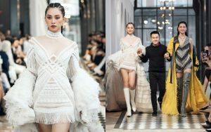 Hoa hậu Tiểu Vy – Lương Thùy Linh trở thành vedette, gây xao xuyến cực độ từ thần thái đến bộ cánh Sapa của NTK Lê Thanh Hòa