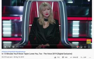 """Vừa xuất hiện trên """"The Voice"""", một clip về Taylor Swift nhận dislike và bình luận chê bai nhiều khó tin"""