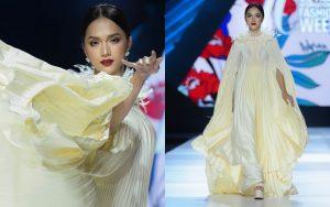 Hoa hậu Hương Giang catwalk xuất thần trong show diễn khép lại AVIFW Thu Đông 2019