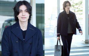 """""""Thần chết"""" Lee Dong Wook lột xác với mái tóc dài """"bà thím"""" đầy ma mị, khí chất như hoàng tử tại sân bay"""