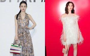 Triệu Lệ Dĩnh – Lưu Thi Thi dự show thời trang: Người sửa váy cho đỡ sexy, người tự tin phô diễn sắc vóc như gái đôi mươi