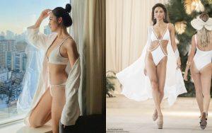 """Diện bikini sắc trắng """"đốt mắt"""", Á hậu Tường San bất ngờ đụng độ Khả Trang bất phân thắng bại"""