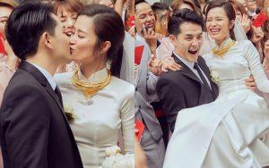 """Ảnh """"nét căng"""" bên trong lễ rước dâu của Đông Nhi: Nữ chính đẹp xuất thần, không ngừng chăm sóc hôn phu như ngày mới yêu!"""