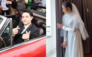 Ông Cao Thắng lái xe mui trần bảnh bao sang nhà Đông Nhi đón dâu
