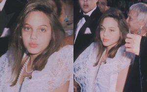 """Choáng với nhan sắc """"Tiên hắc ám"""" Angelina Jolie hồi 11 tuổi: Vẫn biết là đẹp nhưng ai ngờ đẹp đến mức này?"""