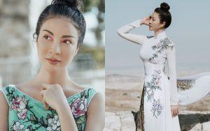 MC Thanh Mai khoe nhan sắc không tuổi với áo dài Sĩ Hoàng