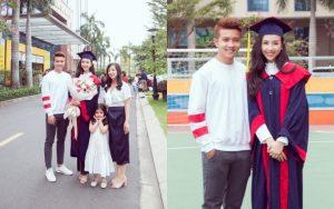 Á hậu Thúy An xinh đẹp trong lễ tốt nghiệp nhưng em trai cực phẩm lại vô tình chiếm spotlight