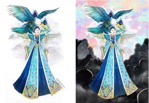 Lộ bản vẽ trang phục dân tộc của Á hậu Thúy An, fan rần rần ủng hộ vì độ hoành tráng