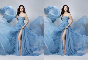 """Diện đầm xẻ cao bay bổng khoe đôi chân """"kiếm Nhật"""", Lương Thuỳ Linh sẽ ẵm giải Top Model?"""