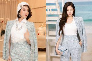 MC Thanh Mai và Jennie nhóm Black Pink cùng diện cả 'cây' Chanel, ai đẹp hơn?