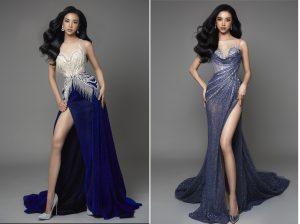 Á hậu Thúy An đẹp mê mẩn và sexy hết nấc trong 2 mẫu đầm dạ hội cho đêm chung kết Miss Intercontinental