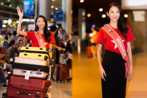 Mặc áo cờ đỏ sao vàng, Thanh Khoa giản dị ngày trở về sau đăng quang Hoa hậu Sinh viên Thế giới