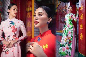 Chuẩn sắc gương mặt đẹp nhất năm, Tiểu Vy lại tung bộ ảnh mới trong trang phục truyền thống